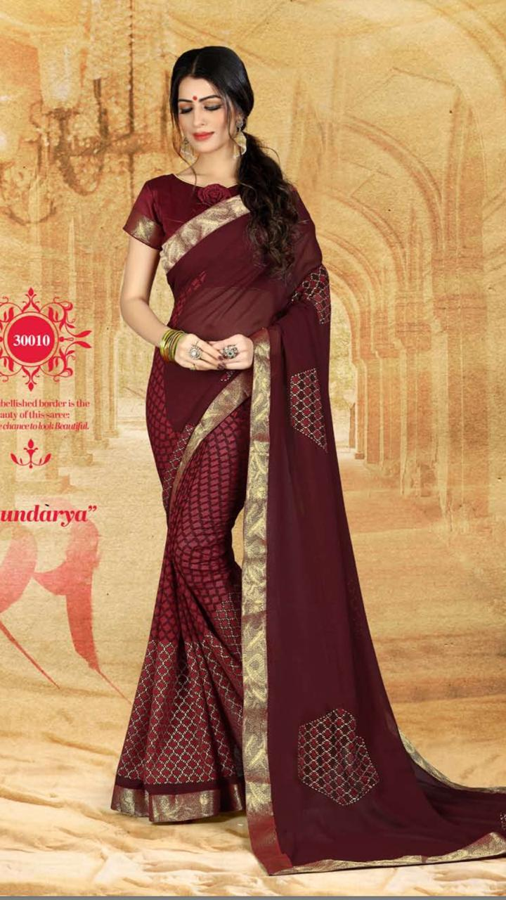 WOMEN SAREE WITH BLOUSE-D NO 3010-DF AAINA 2019