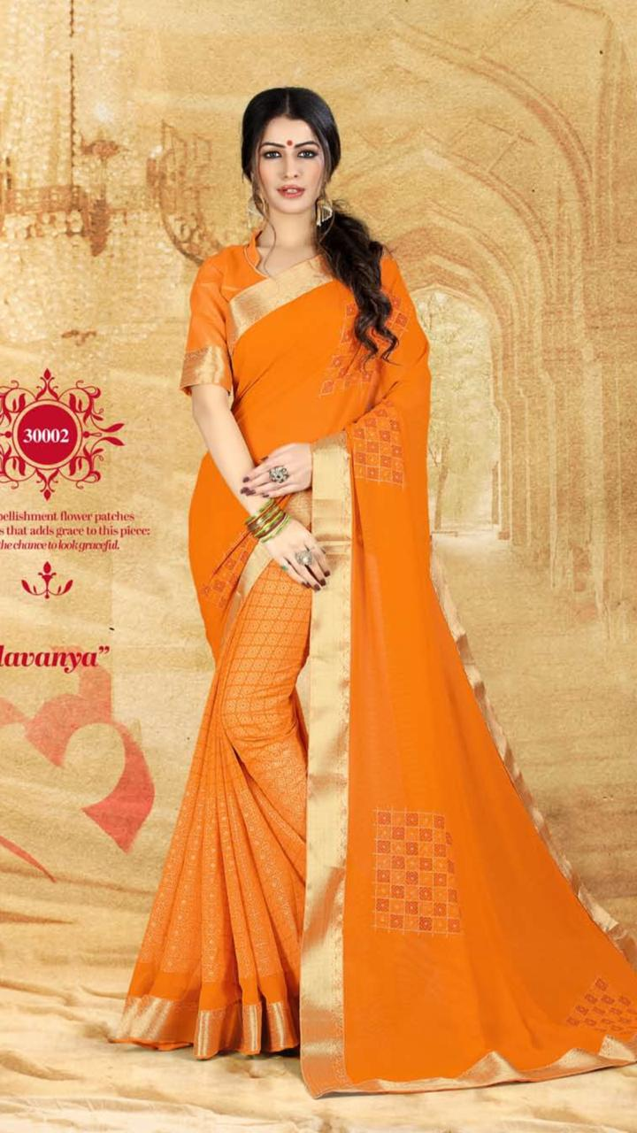 WOMEN SAREE WITH BLOUSE-D NO 3002-DF AAINA 2019