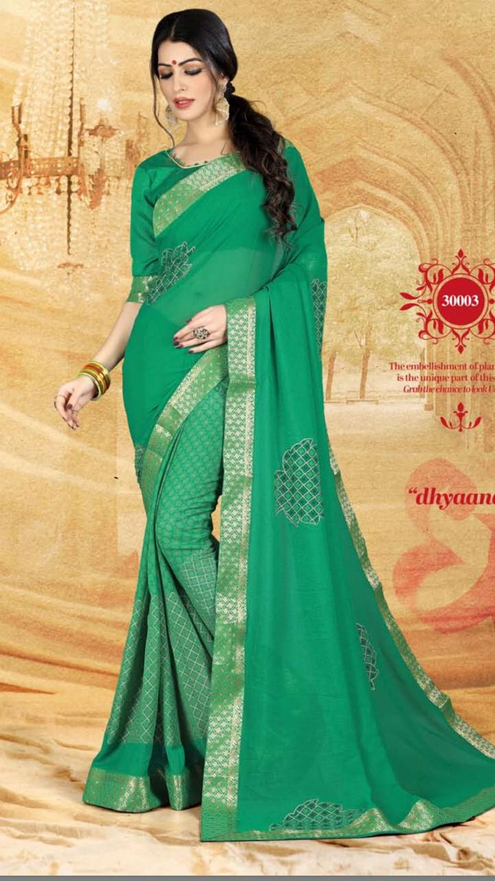 WOMEN SAREE WITH BLOUSE-D NO 3003-DF AAINA 2019