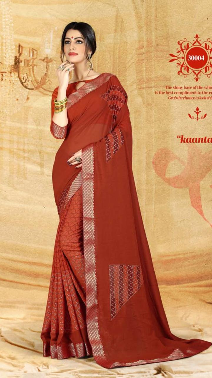 WOMEN SAREE WITH BLOUSE-D NO 3004-DF AAINA 2019