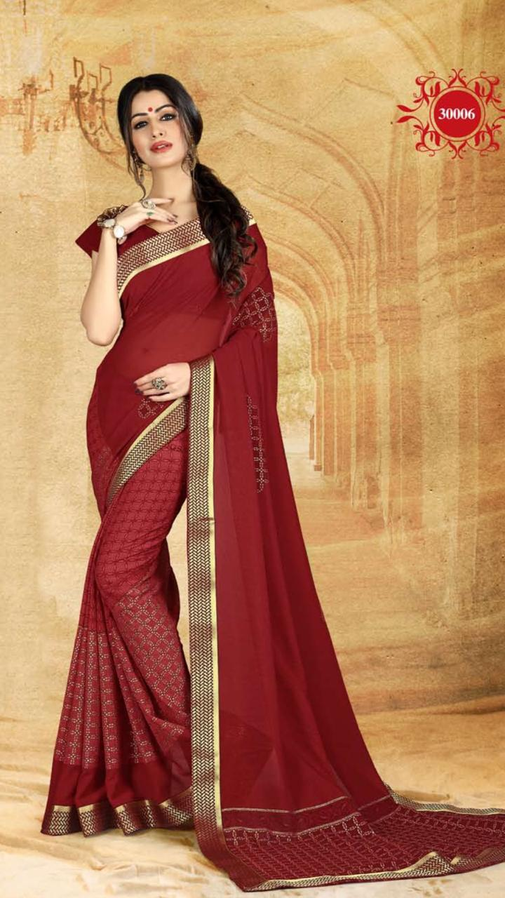 WOMEN SAREE WITH BLOUSE-D NO 3006-DF AAINA 2019