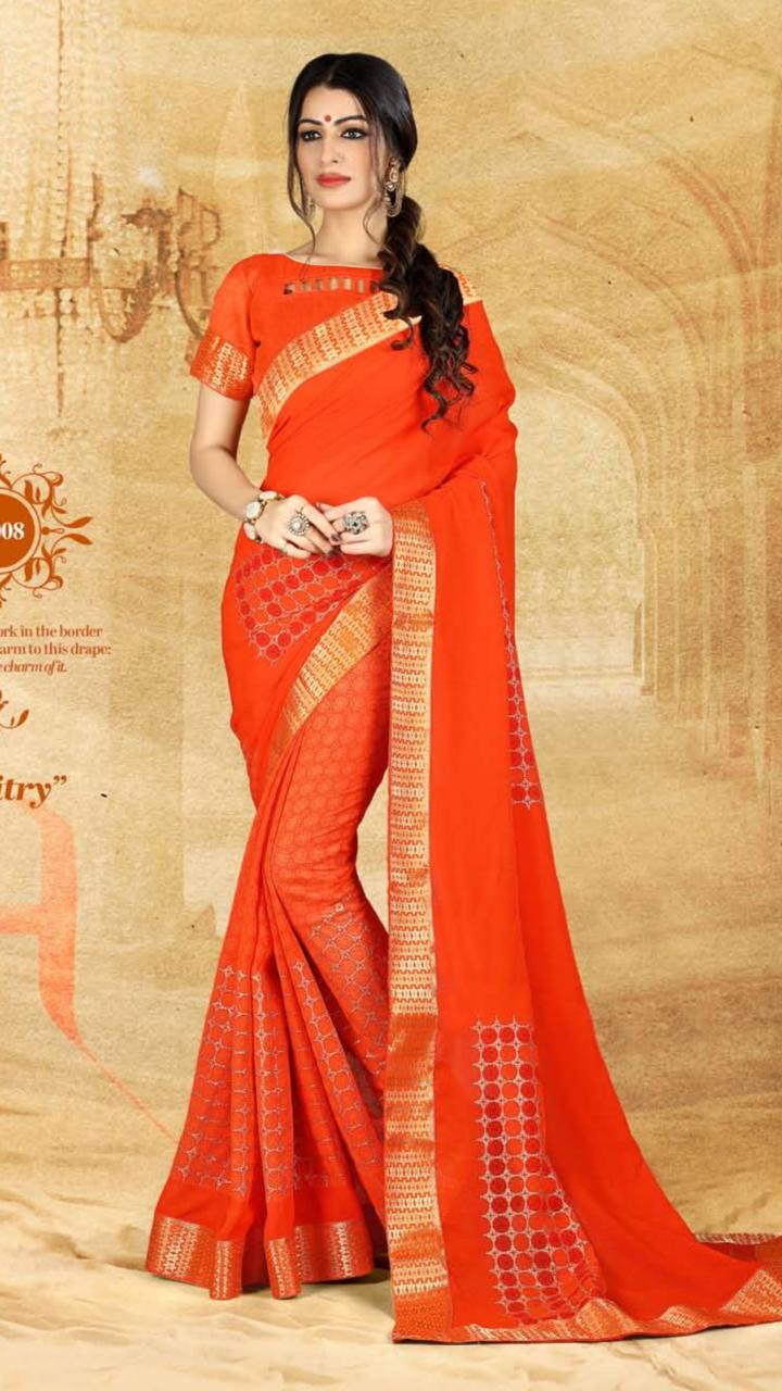 WOMEN SAREE WITH BLOUSE-D NO 3008-DF AAINA 2019