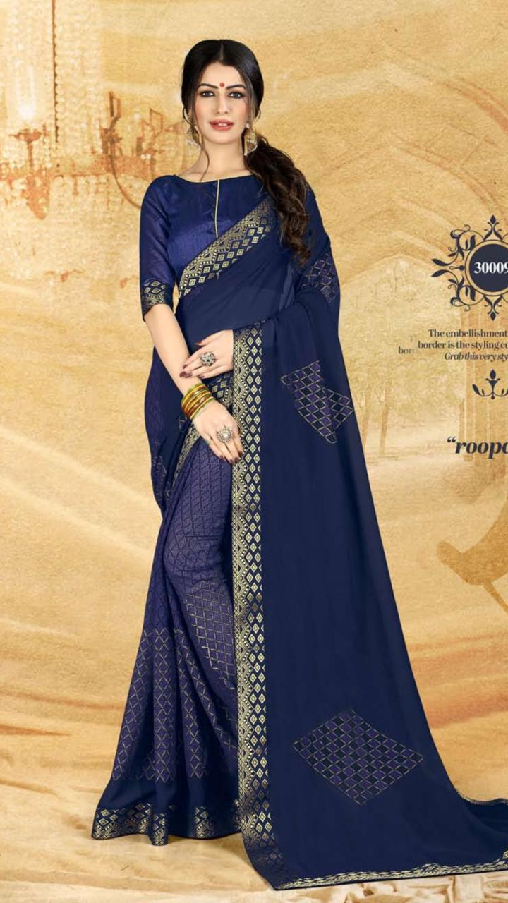 WOMEN SAREE WITH BLOUSE-D NO 3009-DF AAINA 2019