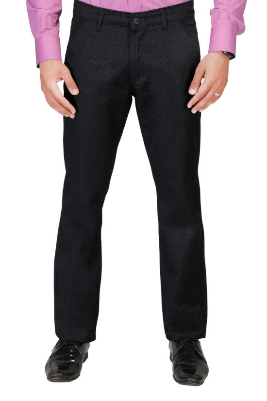 UTD 972 Black Casual Trouser