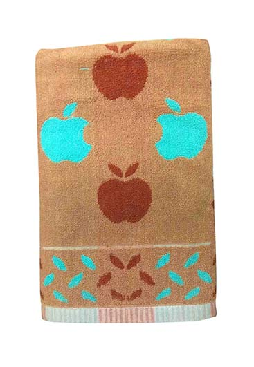 APPLE 1-BROWN-COTTON TERRY TOWEL