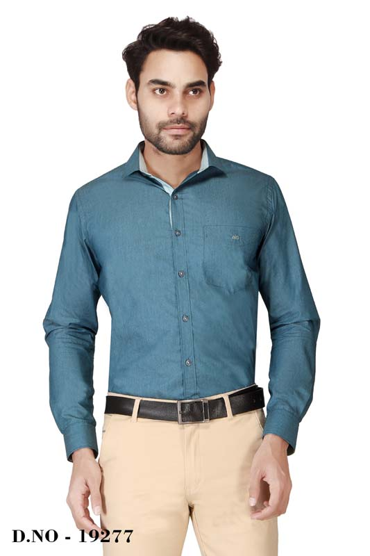 BT MAN TEX-BOTTLE GREEN FORMAL SHIRT