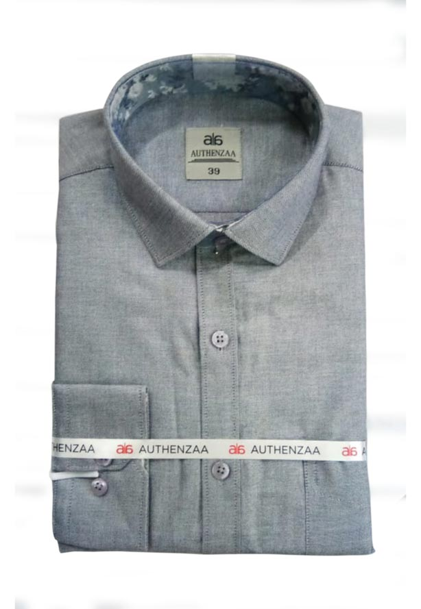 BT APL RAPIER 01-GRAY FORMAL SHIRT