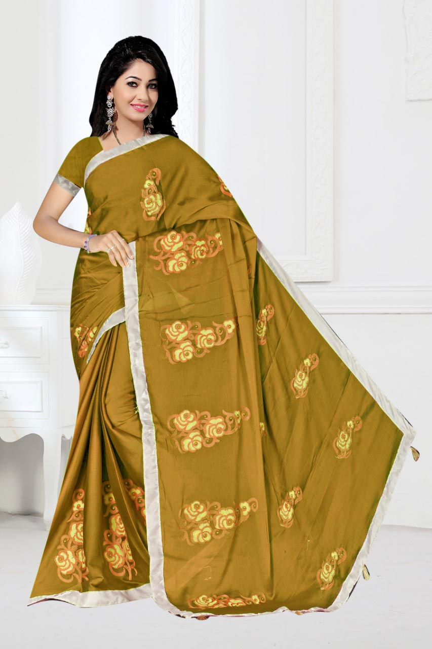 WOMEN SAREE WITH BLOUSE-MAHENDI-DF 1010 2019
