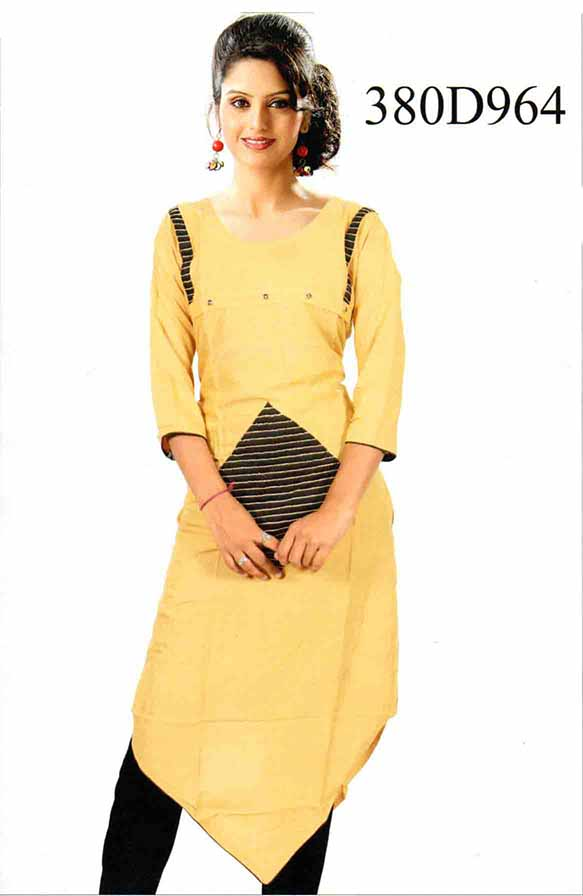 SMC DESIGN 380 D-BEIGE STYLISH RAYON KURTI