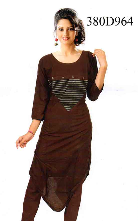 SMC DESIGN 380 D-COFFEE STYLISH RAYON KURTI