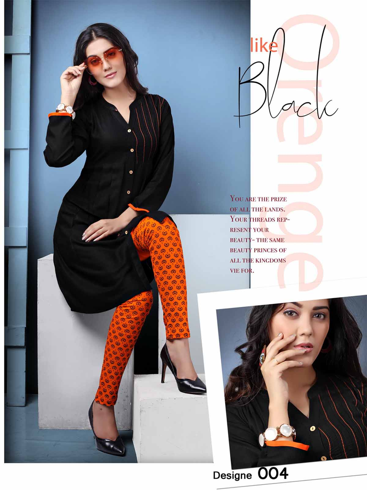 SMC AUG DREAM WEAR 2019-D NO 004 STYLISH KURTI WITH LEGGING