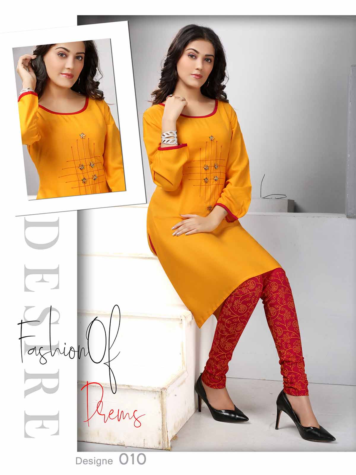 SMC AUG DREAM WEAR 2019-D NO 010 STYLISH KURTI WITH LEGGING