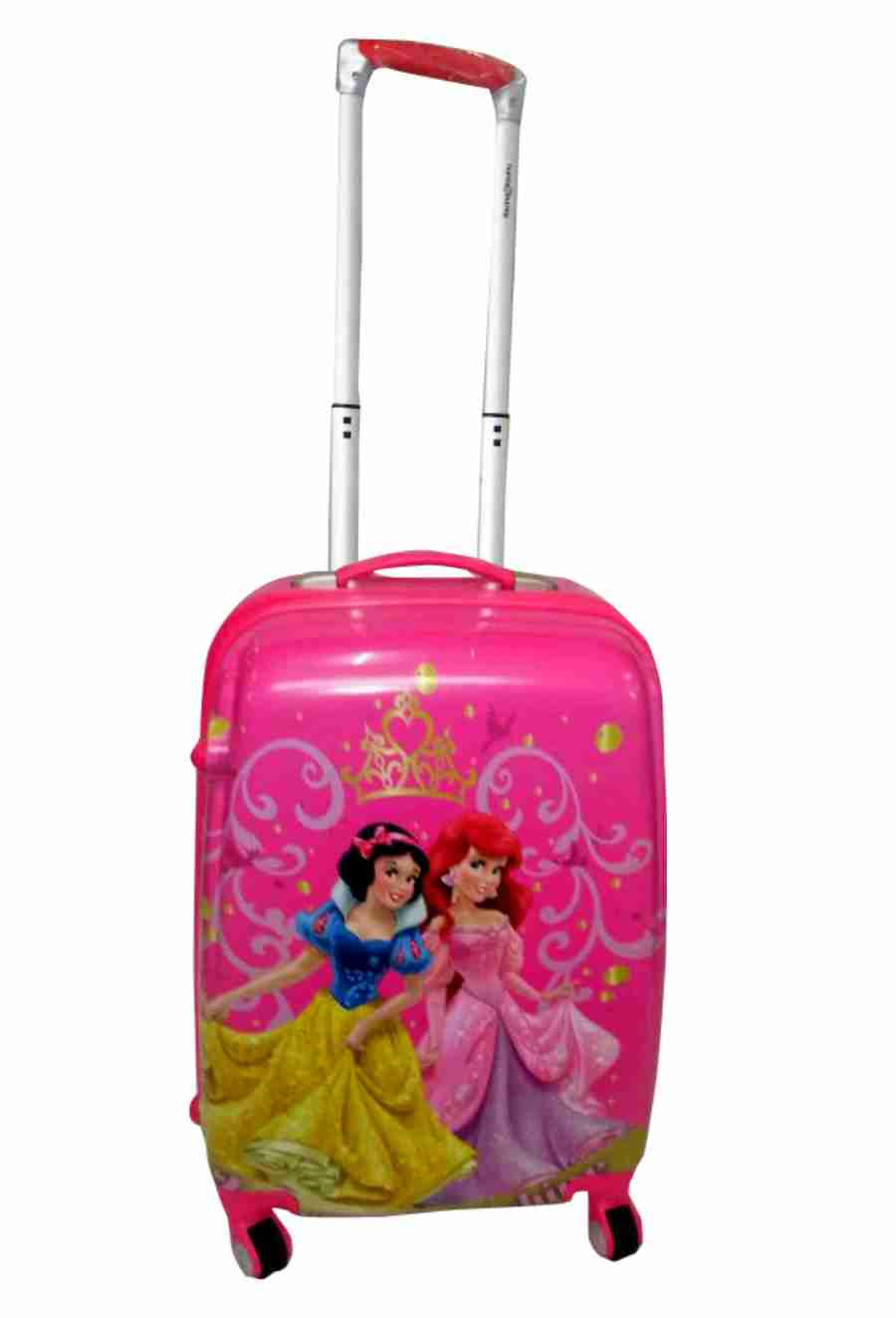 "(18"") Disney Princess Print Kids Trolley Bag - Pink"