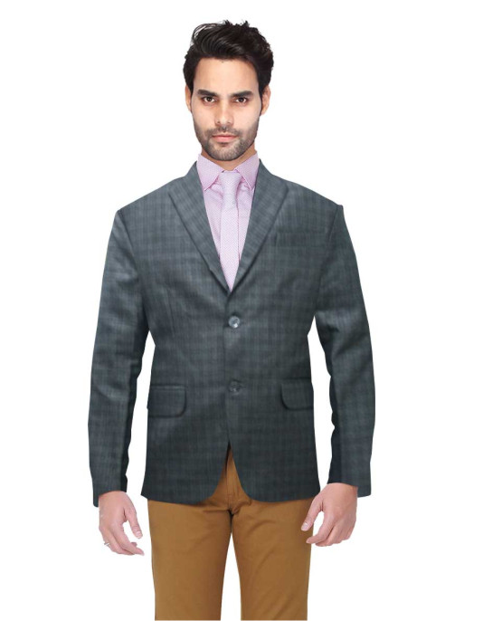 MEN'S FORMAL BLAZAR 02-GRAY CHECKS