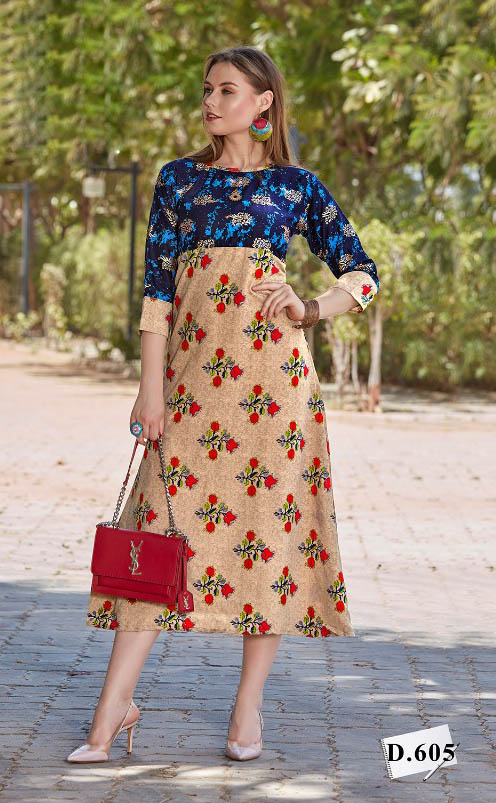 SMC GOLD STAR 2019-D NO 605 WMN KURTI