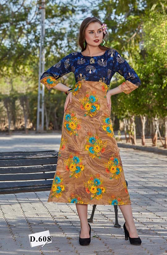 SMC GOLD STAR 2019-D NO 608 WMN KURTI