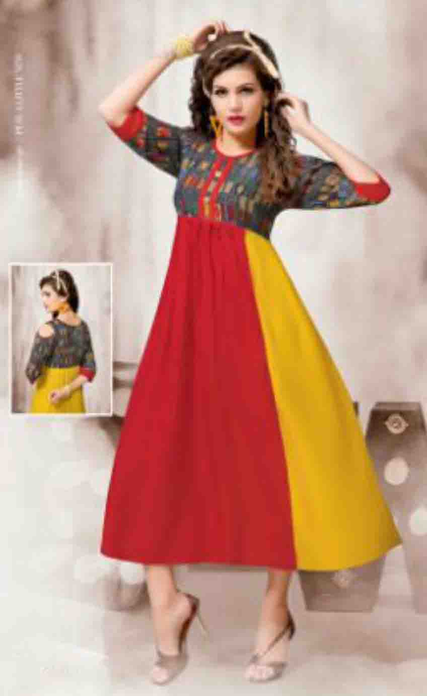 SUF HEERVA 01-D NO 2 DOWN SHOULDER WOMEN KURTI