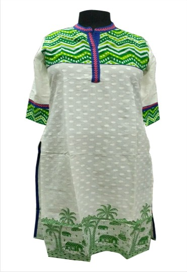 D2 HL - Green Printed Cotton Kurti
