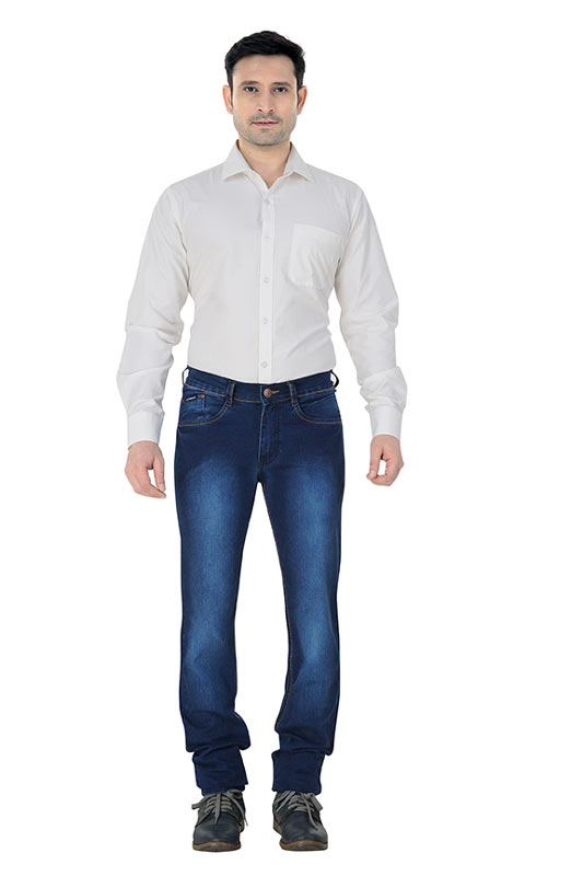 Light Indigo Strecth Mens Jeans 799style4
