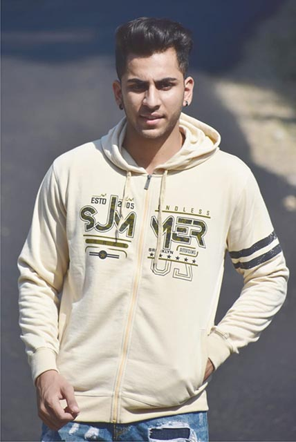 SWEAT SHIRT-BEIGE-MSS VM 10