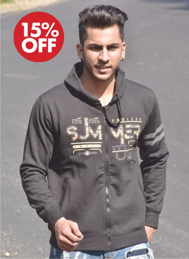 SWEAT SHIRT-BLACK-MSS VM 10