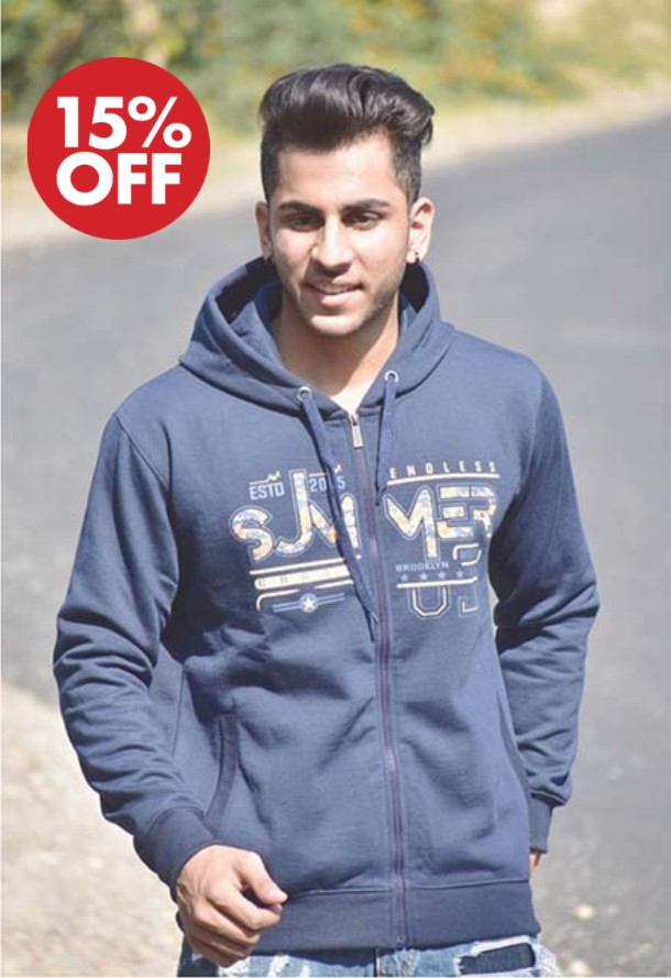 SWEAT SHIRT-NAVY-MSS VM 10
