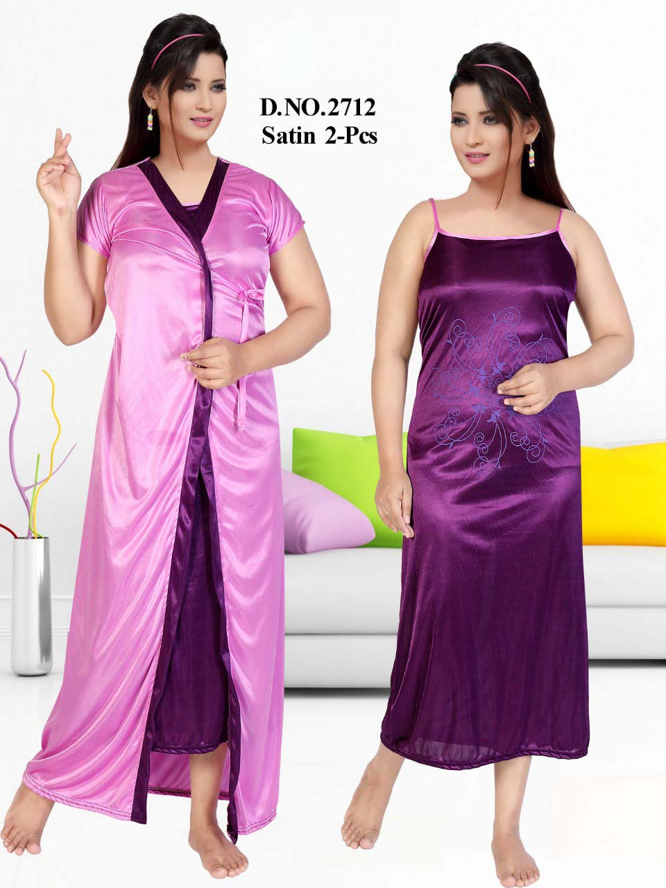 SATIN TWO PIECE NIGTHY-PURPLE-KC JUNE 2712