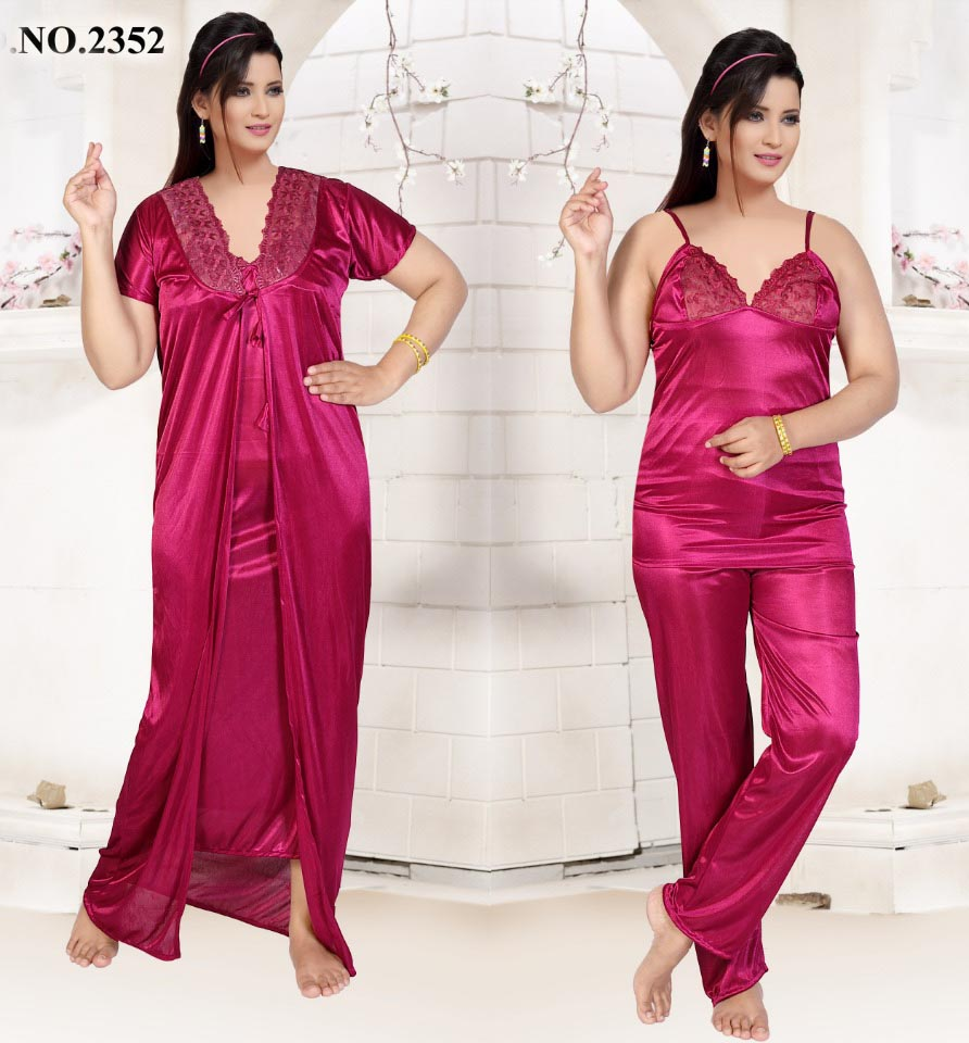 SATIN FOUR PIECE NIGHTY-D NO 1-KC MAY 2326