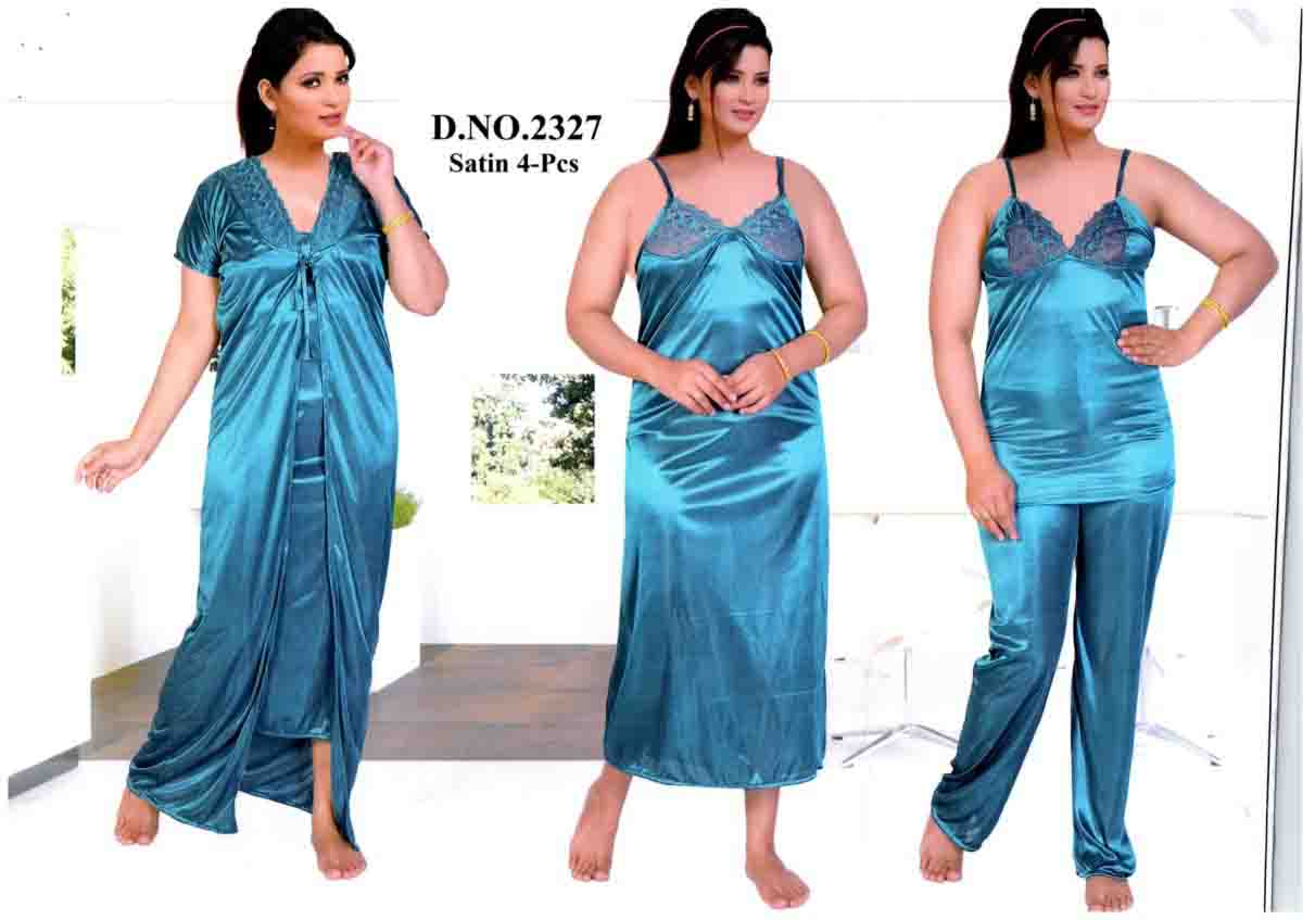 SATIN FOUR PIECE NIGHTY-D NO 1-KC MAY 2327