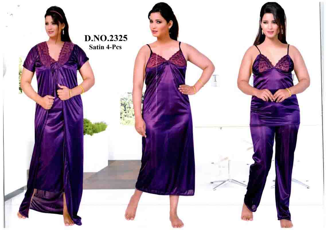 SATIN FOUR PIECE NIGHTY-D NO 1-KC MAY 2328