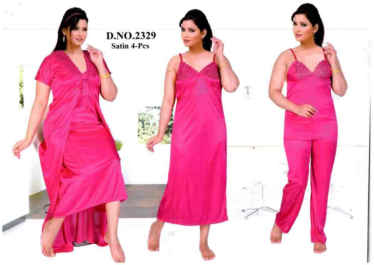 SATIN FOUR PIECE NIGHTY-D NO 1-KC MAY 2329