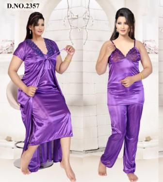 SATIN FOUR PIECE NIGHTY-D NO 1-KC MAY 2331