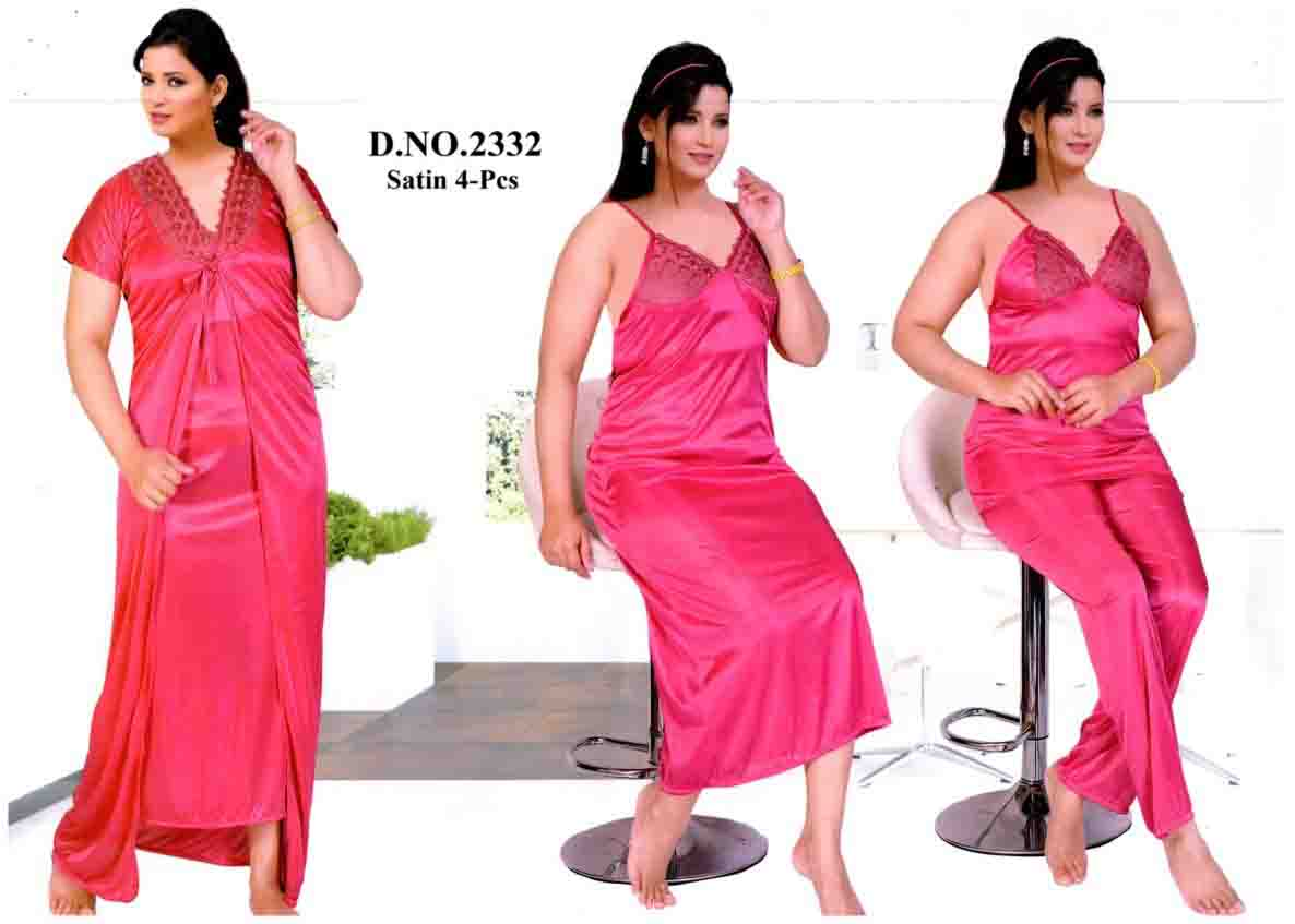 SATIN FOUR PIECE NIGHTY-D NO 1-KC MAY 2332