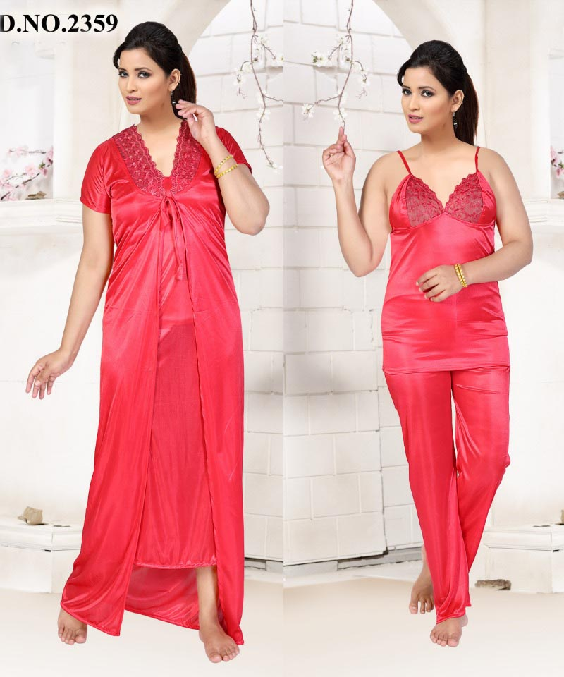 SATIN FOUR PIECE NIGHTY-D NO 1-KC MAY 2333