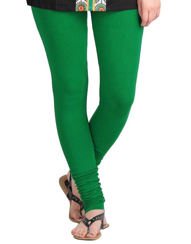 WL OLIVIA 01-GREEN PLAIN LEGGING