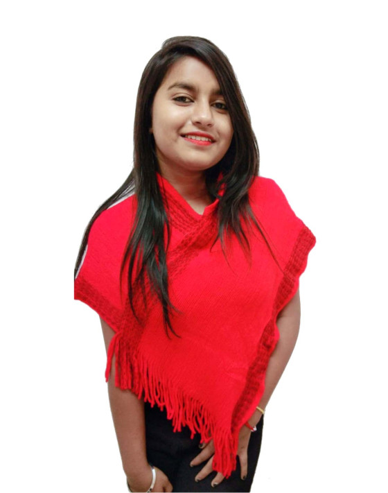 WOMEN TOP-RED-WT OUTER D NO 02