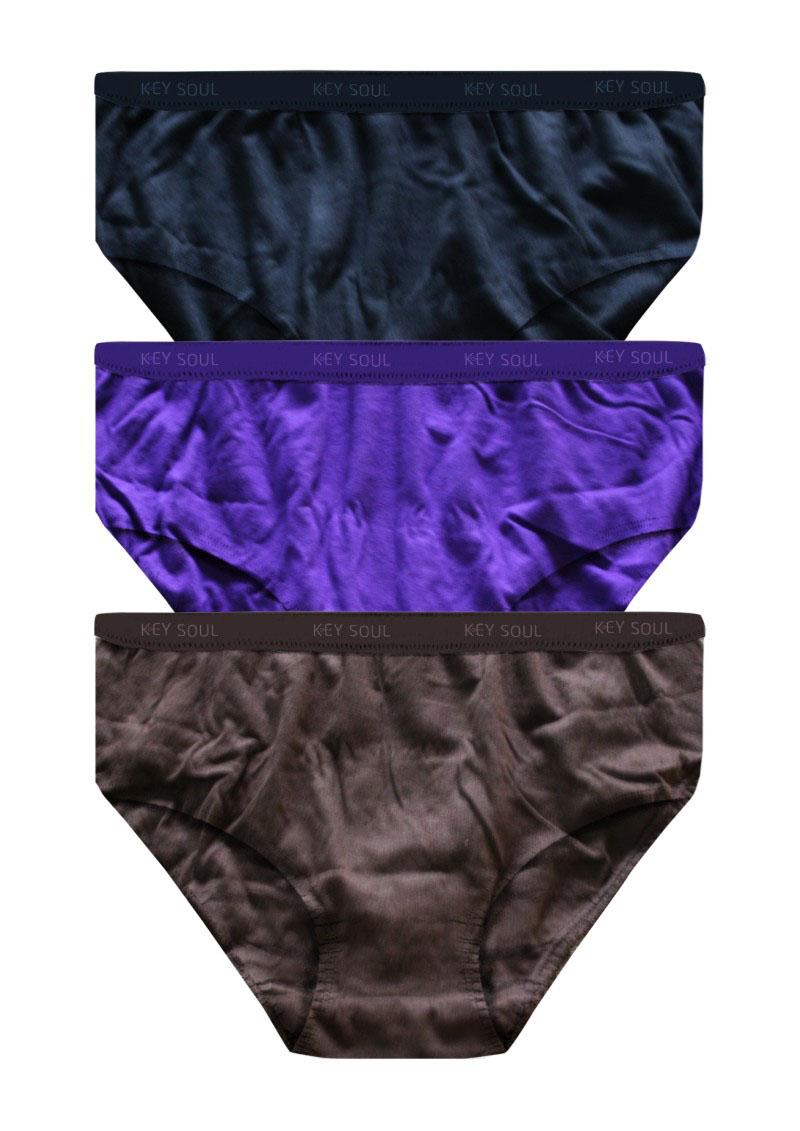 Plain Outer Elastic Panty Pack of 3 -KS001-PACK 6