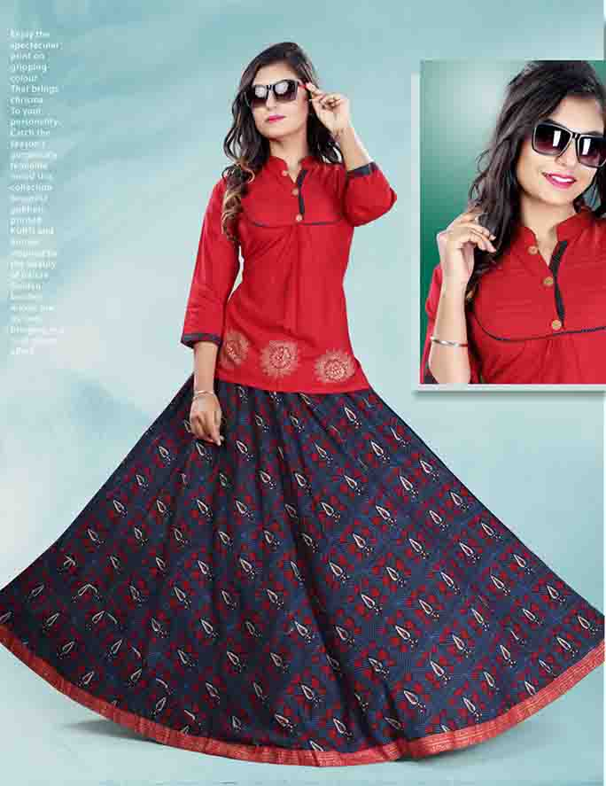 SC PADMAVATI 02-D NO 8 STYLISH WOMEN KURTI