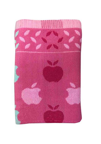 APPLE 1-PINK-COTTON TERRY TOWEL