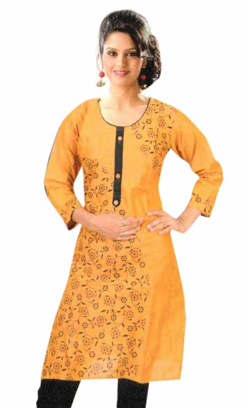 SMC PURVI 01-D NO 2 FULL SLEEVES COTTON LINEN KURTI
