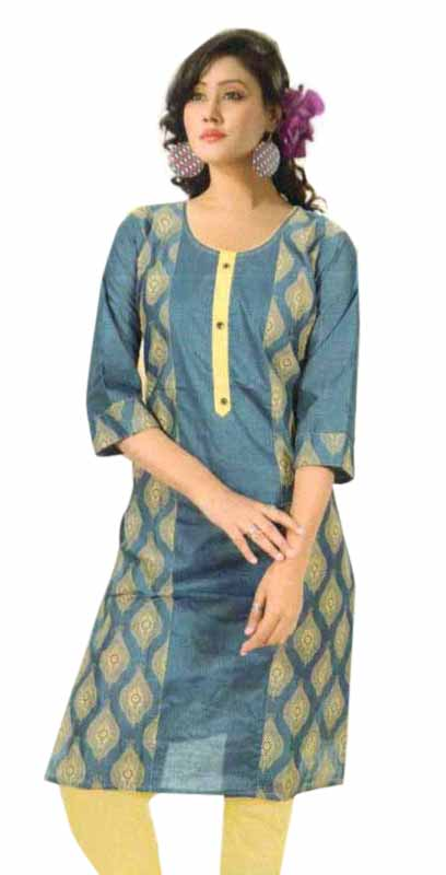SMC PURVI 01-D NO 3 FULL SLEEVES COTTON LINEN KURTI