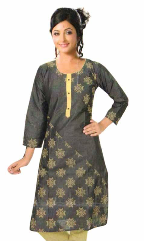 SMC PURVI 01-D NO 5 FULL SLEEVES COTTON LINEN KURTI