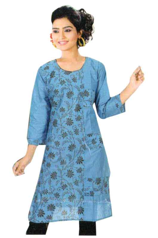 SMC PURVI 01-D NO 6 FULL SLEEVES COTTON LINEN KURTI