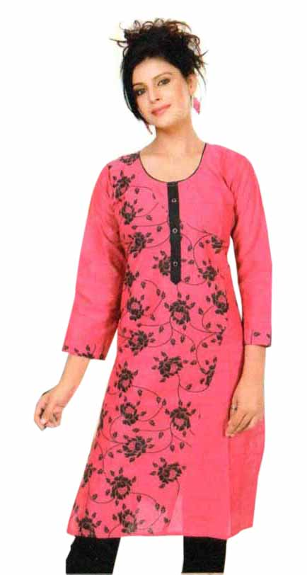 SMC PURVI 01-D NO 7 FULL SLEEVES COTTON LINEN KURTI