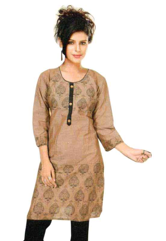 SMC PURVI 01-D NO 9 FULL SLEEVES COTTON LINEN KURTI
