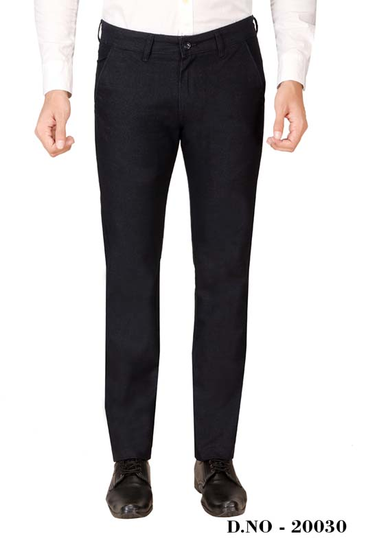 UTD ECO RANGE 5-BLACK CASUAL TROUSER