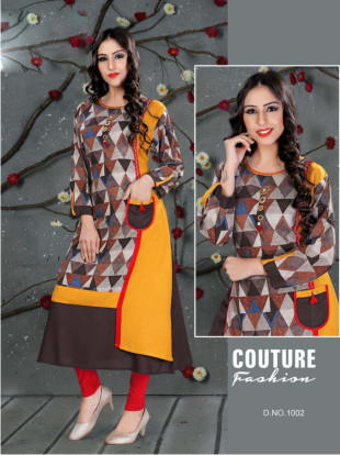 SC SANVI 01-D NO 2 STYLISH WOMEN KURTY