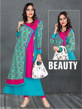SC SANVI 01-D NO 5 STYLISH WOMEN KURTY