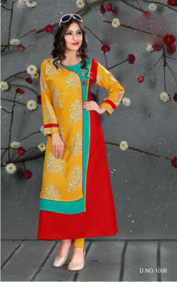 SC SANVI 01-D NO 6 STYLISH WOMEN KURTY