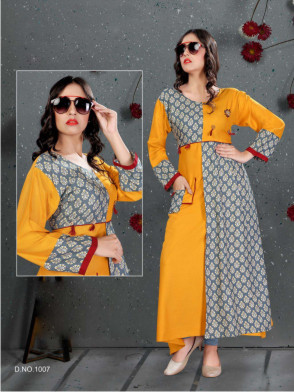 SC SANVI 01-D NO 7 STYLISH WOMEN KURTY